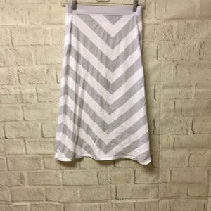 Old Navy gray and white skirt